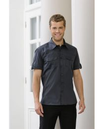 Overhemd Russel Short Sleeve Classic Twill Shirt heren