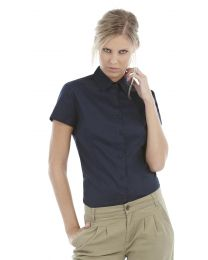 Blouses B&C Collection Sharp Twill Short Sleeve Shirt dames