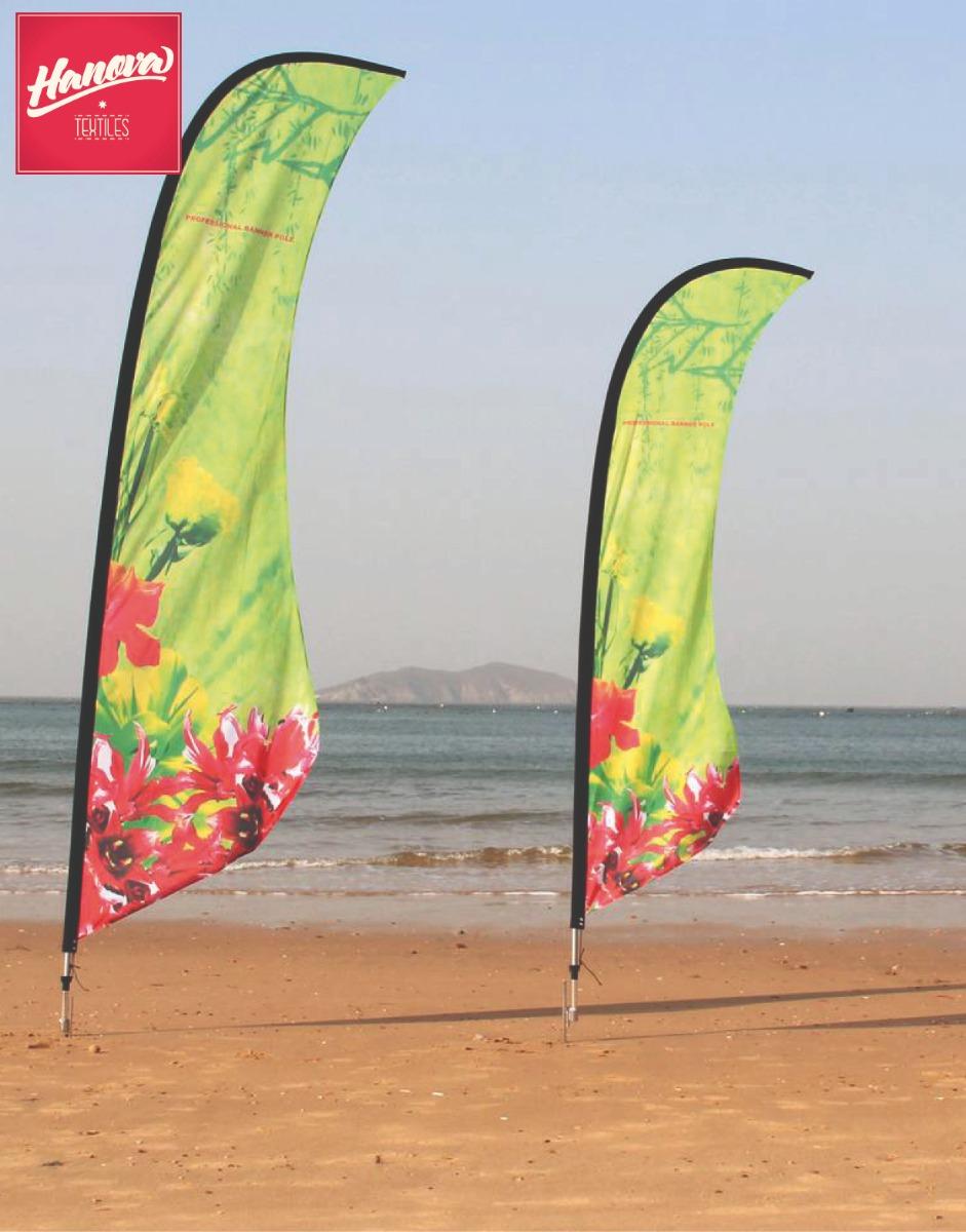Spandoeken en beachvlaggen